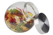2 Stück APS großes Vorratsglas, Vorratsdose mit Edelstahl Schraubdeckel 12,5 x 19cm, H: 18cm, Fassungsvermögen 1 Liter