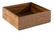 APS Holzbox -WOODY-, 15 x 15 cm, H5,5 cm, aus Akazienholz, Innenmaß: 13 x 13 cm, Aufbewahrungsbox/Aufbewahrungskiste in edler Optik
