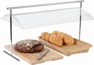 APS Hygieneschutz ca. 65 x 39 cm, Höhe 42 cm glasklare Kunststoffhaube Standfüße Metall hartverchromt