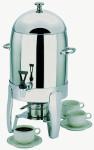 APS Kaffeedispenser -Happy Hour- 31 cm x 33,5 cm, Höhe 54,5 cm 10,5 L, 18/8 Edelstahl poliert, für Kaffee, Tee oder andere warme Getränke