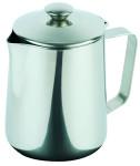APS Kaffeekanne ca. 1,5 Liter Inhalt Edelstahl, mit Klappdeckel spülmaschinenfest
