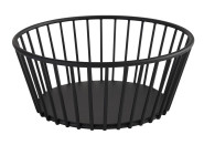 APS Korb -URBAN- aus Metall, Ø 17 cm, Höhe 7 cm, Gebäckschale, Brotkorb, Obstschale, Obstkorb, matt-schwarz