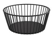 APS Korb -URBAN- aus Metall, Ø 20 cm, Höhe 8,5 cm, Gebäckschale, Brotkorb, Obstschale, Obstkorb, matt-schwarz