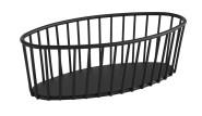 APS Korb -URBAN- aus Metall, 21 x 10 cm, Höhe 7 cm, Gebäckschale, Brotkorb, Obstschale, Obstkorb, matt-schwarz