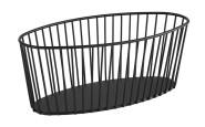 APS Korb -URBAN- aus Metall, 30 x 14 cm, Höhe 12 cm, Gebäckschale, Brotkorb, Obstschale, Obstkorb, matt-schwarz