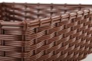 APS Korb -WICKER-LOOK-, Polypropylen, braun, 39,5 x 29,5 cm, H: 10 cm