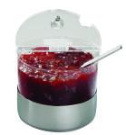 APS Kühlschale -Top Fresh- Mini ca. Durchmesser 14 cm, Höhe 11,5 cm, 1 ltr 18/10 Edelstahl/Polycarbonat kühlbar, 4-teiliges Set