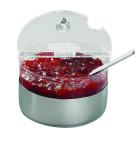 APS Kühlschale -Top Fresh- Mini ca. Durchmesser 14 cm, Höhe 9 cm, 0,6 Liter 18/10 Edelstahl / Polycarbonat kühlbar, 4-teiliges Set
