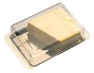 APS Kühlschrank-Butterdose ca. 16 x 9,5 cm Edelstahl aromadichter Deckel VE 12