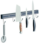 APS Magnet-Messerhalter ca. 45 cm Länge, Breite 4 cm Kunststoff schwarz