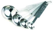 APS Messlöffelsatz ca. 14 x 4,5 cm Edelstahl, Löffel hochglänzend Stiele matt poliert Skalierung: 1 Essl., 1 Teel., 1/2Teel., 1/4 Teel.