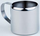 APS Milchkännchen / Sahnegießer Durchmesser 6 cm, Höhe 6 cm Edelstahl, mit Griff außen hochglänzend Inhalt 0,15 l