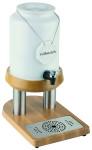 APS Milchkanne 23 x 35 cm, Höhe 43 cm,ca. 4Liter Porzellan / 18/10 Edelstahl Buche wasserfest versiegelt inkl. Porzellanschild zum Beschriften