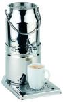 APS Milchkanne -Top Fresh- Milch ca. 21 x 32 cm, Höhe 39 cm 3 Ltr, 18/8 Edelstahl 1 Kühlakku im Standfuß -original Milchkanne- spülmaschinenfest
