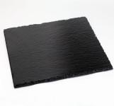 APS Naturschieferplatte 4er Set ca. 10 x 10 cm Materialstärke 4-7mm