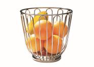 APS Obstkorb ca. Durchmesser 21,5 cm, Höhe 20,5 cm 18/10 Edelstahl,ideal für Obst spülmaschinenfest, stapelbar