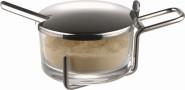 APS Parmesan-Menage -PROFI-, Metall verchromt, Ø 9 cm, H: 5,5 cm