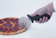 APS Pizzaschneider Rad ca. Durchmesser 10 cm Edelstahl-Klinge ergonomischer, rutschhemmender Griff aus Polypropylen, schwarz, hitzebeständig