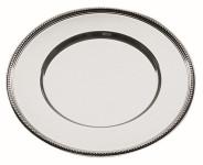 APS Platzteller rund ca. Durchmesser 30,5 cm 18/10 Edelstahl poliert mit Perlrand