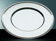 APS Platzteller rund ca. Durchmesser 30,5 cm Edelstahl poliert mit Fadendekor