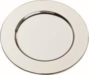 APS Platzteller rund ca. Durchmesser 31 cm Edelstahl poliert, Rand eingerollt