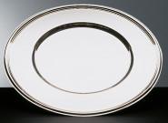APS Platzteller rund ca. Durchmesser 33 cm 18/10 Edelstahl poliert mit Fadendekor