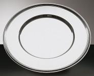 APS Platzteller rund ca. Durchmesser 33 cm 18/10 Edelstahl poliert mit Perlrand
