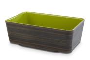 APS PLUS GN 1/4 Schale aus Melamin in grün, 26,5 x 16,2 x 9 cm