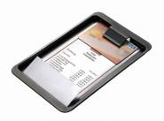 APS Rechnungstablett, ABS, schwarz, 20 x 12 cm, H: 0,5 cm