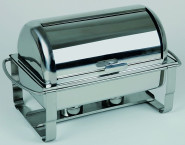APS Rolltop-Chafing Dish -Caterer- 67 x 35 cm, Höhe 45 cm ! GN-Behälter 1/1, 9 Liter Edelstahl rostfrei Rolltop auf 90° klappbar