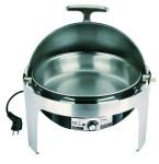 APS Rolltop-Chafing Dish -Elite- ca. Durchmesser 36 cm, Höhe 45 cm Edelstahl rostfrei Elektro-Wasserbad aus Kunststoff
