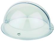 APS Rolltophaube rund, ca. Durchmesser 38 cm, Höhe 20 cm glasklarer Kunststoff mit Chromgriff passend für alle Durchmesser 38 cm APS-Tabletts