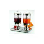 APS Saftdispenser -Inox Star Duo- ca. 36 x 52 cm, Höhe 55 cm 2 x 8 Ltr, Edelstahl hochglanzpoliert, kühlbar Behälter aus glasklarem Kunststoff
