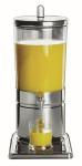 APS Saftdispenser -Top Fresh- ca. 23 x 35 cm, Höhe 52 cm 6 Ltr, 18/10 Edelstahl kratz- und stoßfest, spülmaschinenfest