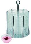 APS Schälchenspender -Medium- inkl. 36 Gläsern (arcoroc) Durchmesser ca 17,5 cm, 25,5 cm hoch Metall hartverchromt Glasschalen Durchmesser 70 mm