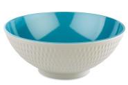 APS Schale -ASIA PLUS- aus Melamin Ø 24 cm, Höhe: 9,5 cm, 2,2 Liter, innen: blau, glänzend, außen: grau, matt