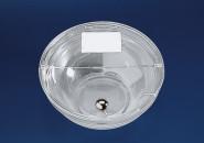 APS Schutzdeckel ca. Durchmesser 23,5 cm glasklarer Kunststoff mit Chromkugel, klappbar mit Beschriftungsschild spülmaschinengeeignet VE 1