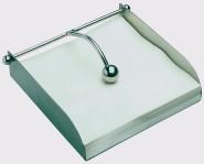 APS Serviettenhalter 17 x 17 cm, Höhe 5 cm 18/8 Edelstahl mattiert einzeln im Farbkarton