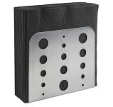APS Serviettenhalter aus matten polierten 18/0 Edelstahl, 15 x 4,5 x 12,5 cm, H: 12,5 cm