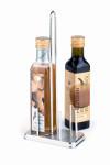 APS Ständer f. Essig- u.Ölflaschen ca. 13 x 7 cm, Höhe 30 cm Metall, verchromt passend für handelsübliche Flaschen mit 250 ml Inhalt