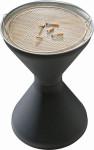 APS Standascher -DIABOLO-, PP, verzinktes Blech, Ø 40 cm, H: 60 cm