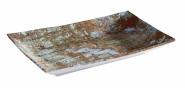 APS Tablett -AQUARIS- aus Melamin, 21 x 13 cm, Höhe 3 cm Farbe: Kupfer, gebürstet