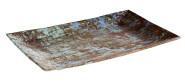 APS Tablett -AQUARIS- aus Melamin, 34,5 x 22 cm, Höhe 3 cm Farbe: Kupfer, gebürstet