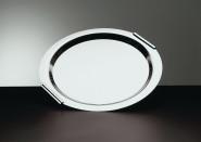 APS Tablett -Finesse- rund, ca. Durchmesser 38 cm Edelstahl 18/0 mit hartverchromten, massiven Messinggriffen