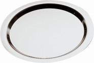 APS Tablett -Finesse- rund, ca. Durchmesser 58 cm, H 2 cm Edelstahl