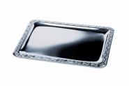 APS Tablett -Schöner Essen- ca. 50 x 36 cm Edelstahl mit Dekorrand
