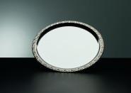 APS Tablett -Schöner Essen- rund, ca. Durchmesser 35 cm Edelstahl mit Dekorrand