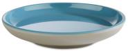 APS Teller -ASIA PLUS- aus Melamin Ø 11 cm, Höhe: 2 cm, innen: blau, glänzend, außen: grau, matt