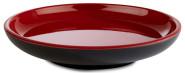 APS Teller -ASIA PLUS- aus Melamin Ø 11 cm, Höhe: 2 cm, innen: rot, glänzend, außen: schwarz, matt
