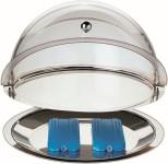 APS Thermo-Set 5-tlg. ca. Durchmesser 38 cm, Höhe 24 cm Edelstahl 1 Rolltophaube, kühlbar Durchmesser 35 cm Edelstahl-Schale Durchmesser 38 cm